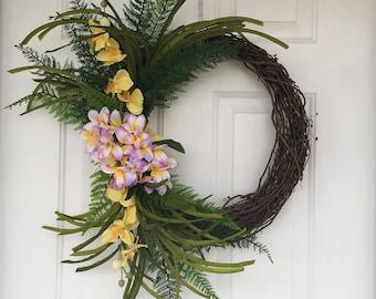 Tropical Door Wreath Etsy