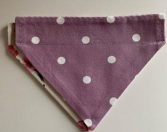 Lilac dot dog bandana