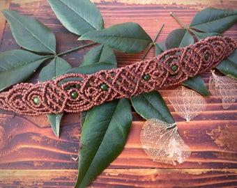 Green Eyed Jade _ Macrame Bracelet