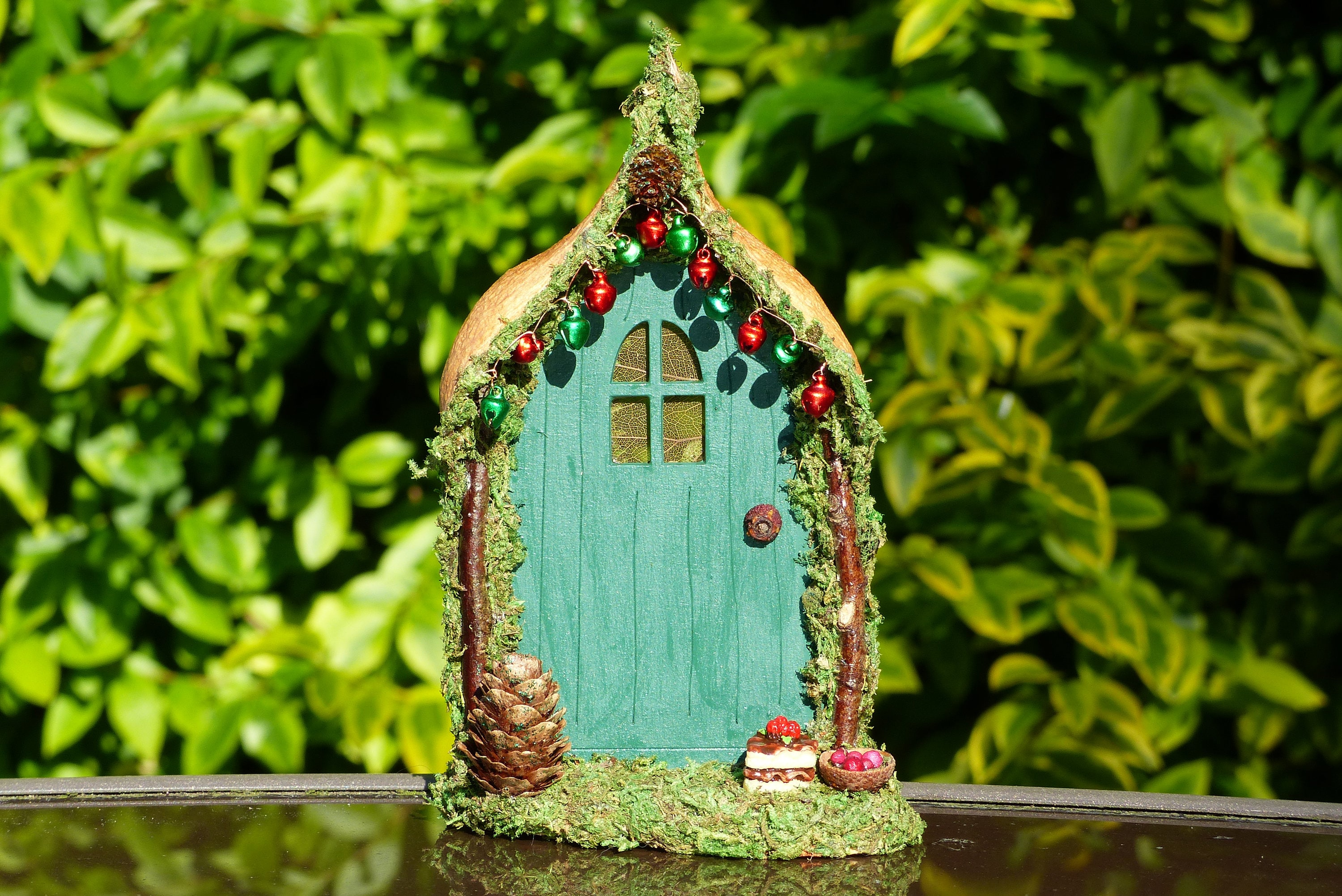 Green Fairy Door Home Decor Miniature Gift Garden Fairies