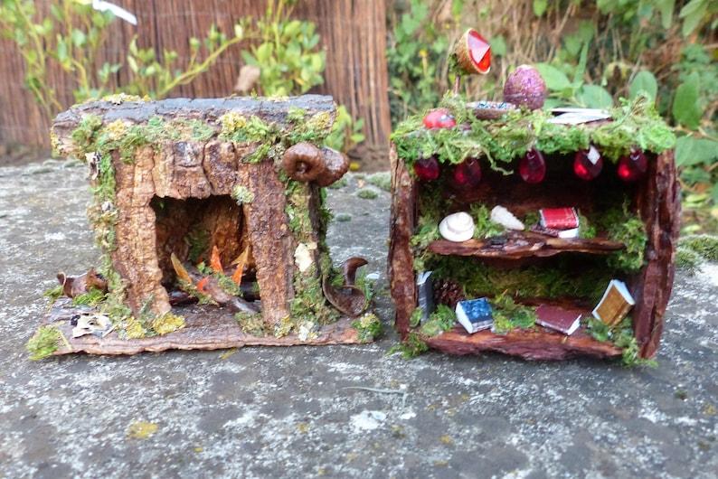 Miniature Living Room Set - Fireplace, Miniature Bookcase, Fairy House,  Fairy Garden, Welcome Home, House Warming, Miniature Furniture, Fae