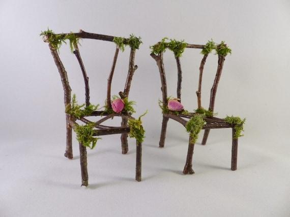 Miniature Fairy Chairs Fairy House Fairy Furniture Pixie Etsy