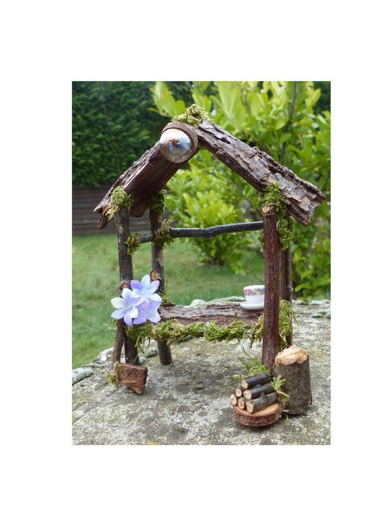 Miniature Dollhouse FAIRY GARDEN Accessories Green Arbor Fairy Door