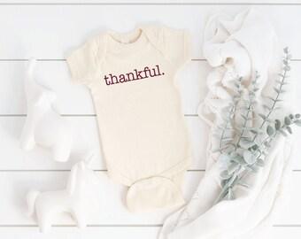 Thanksgiving Top Thanksgiving ONESIE\u00ae Thanksgiving Shirt Thanksgiving Gift Thankful ONESIE\u00ae Thanksgiving Bodysuit Thanksgiving Outfit