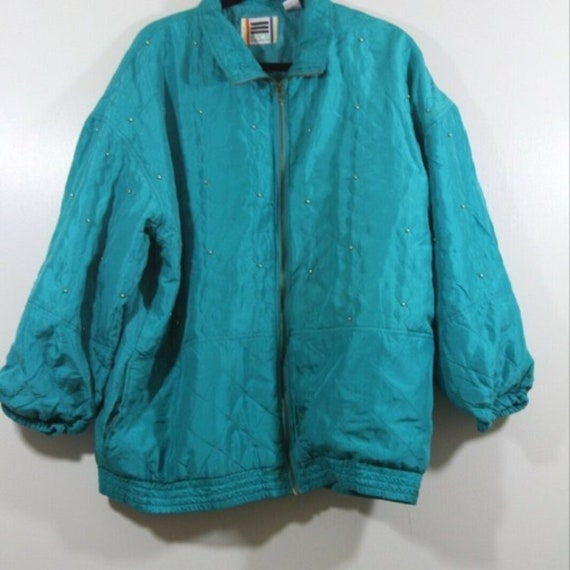 EVR Vintage Ladies 100% Silk Full Zip Track Jacket