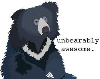 "Sloth Bear ""Unbearably Awesome"" Mug/Water Bottle"
