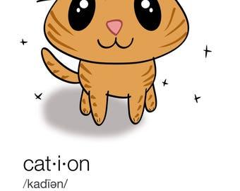 Cation Definition Cat Chemistry Mug/Water Bottle