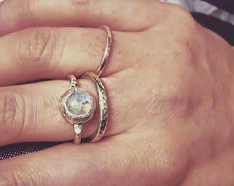 Molten Moonstone Ring