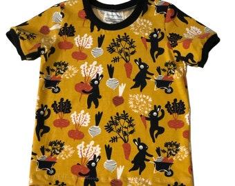 Size 5T - Orange Harvest Bunnies Short Sleeve T-Shirt