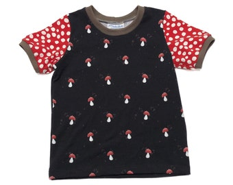 Size 4T - Black Mushroom T-Shirt