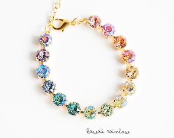 Kawaii Rainbow Swarovski Bracelet- 8mm