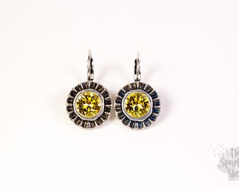 Ray of Sunshine Leverback Earrings - Swarovski Light Topaz