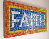 Custom Mosaic Sign, 5 let...