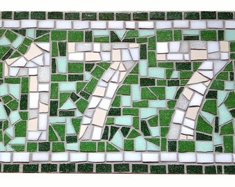 Custom Mosaic Sign, House Number, Door Number, Unique Christmas Gift, Personalised Gift, Gift for Couple, Unique Gift for her, Porch, Sign
