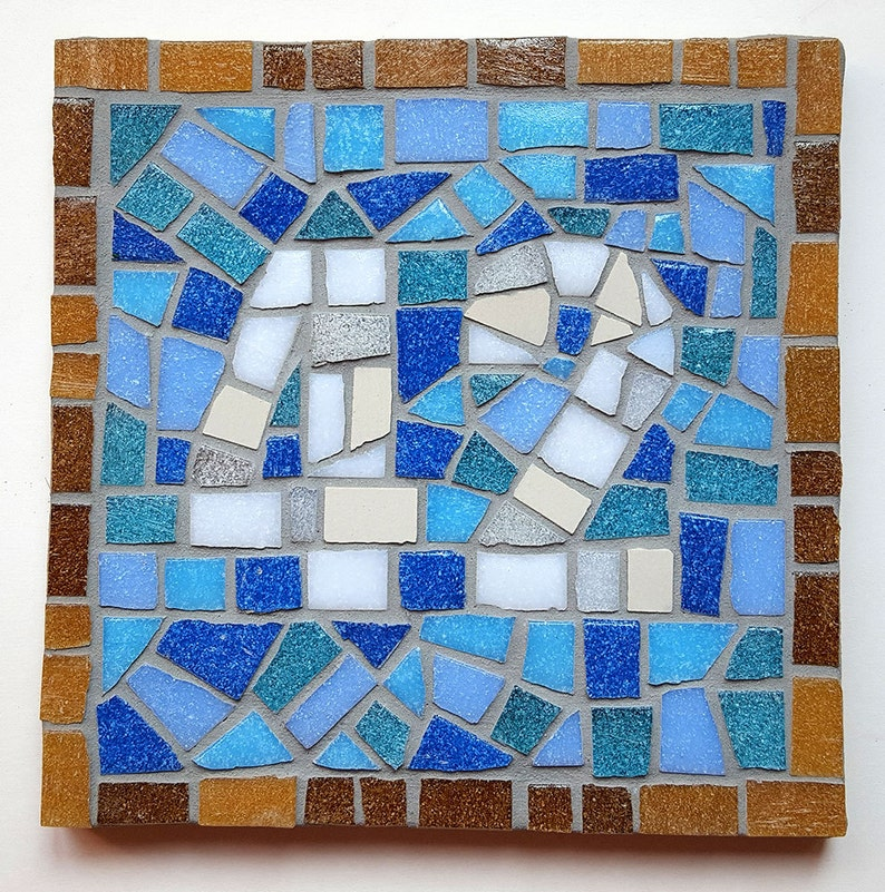 House Number Mosaic Sign Address Sign New Home image 0
