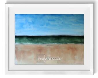Kunst-Druck-Horizont-II, See-Kulisse-Poster, Wand-Kunst-Druck, Natur-Wand-Dekor, Öl-Malerei, digitale Kunst-Datei