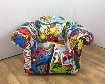 Children's/Kids Armchair in Marvel Comics Themed Fabric