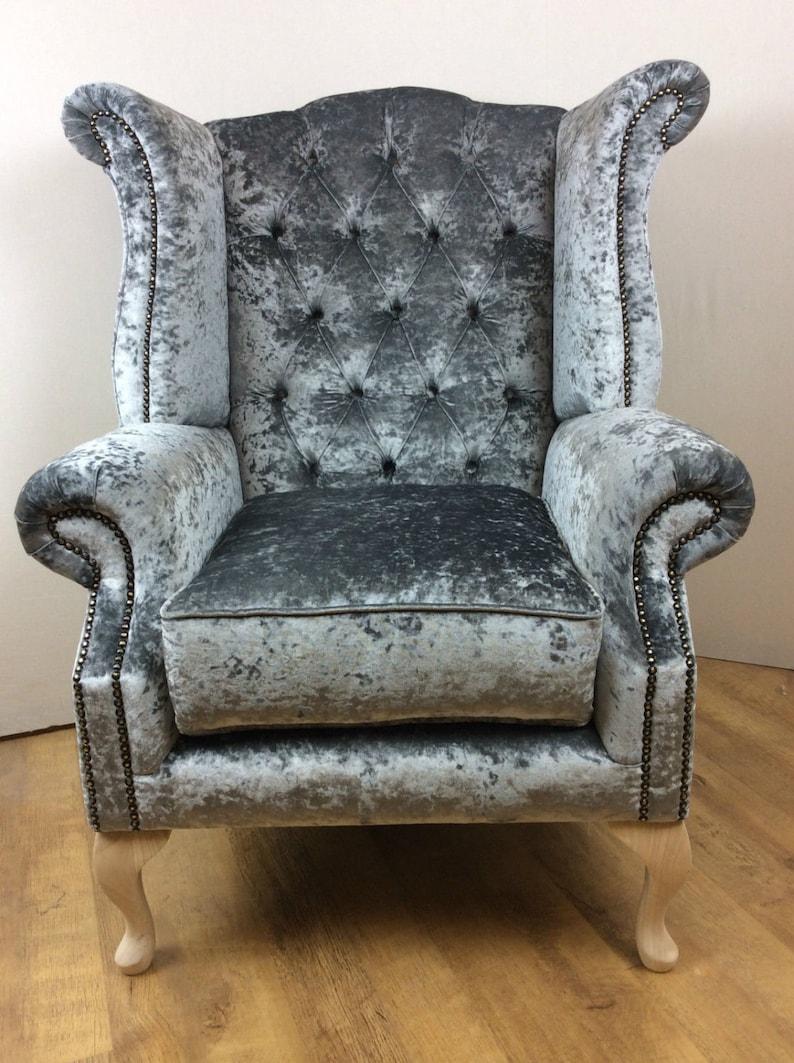 Home & Garden Ottomans, Footstools & Poufs Superb Modern Black Crushed Velvet Fabric Footstool With Short Queen Anne Legs