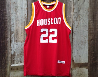 ec3182523 Vintage Houston Rockets Clyde Drexler Jersey
