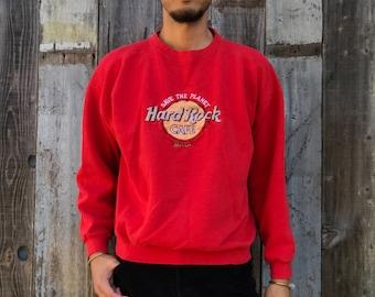 Maui Hard Rock Café Sweatshirt | 80s Hard Rock Cafe Sweatshirt | Maui Hard Rock Cafe Sweatshirt | 1980s Sweatshirt | Mens Vintage Clothing
