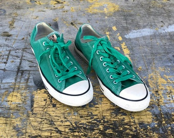 4d73d83327f0 Vintage Teal Low Top Converse All-Stars