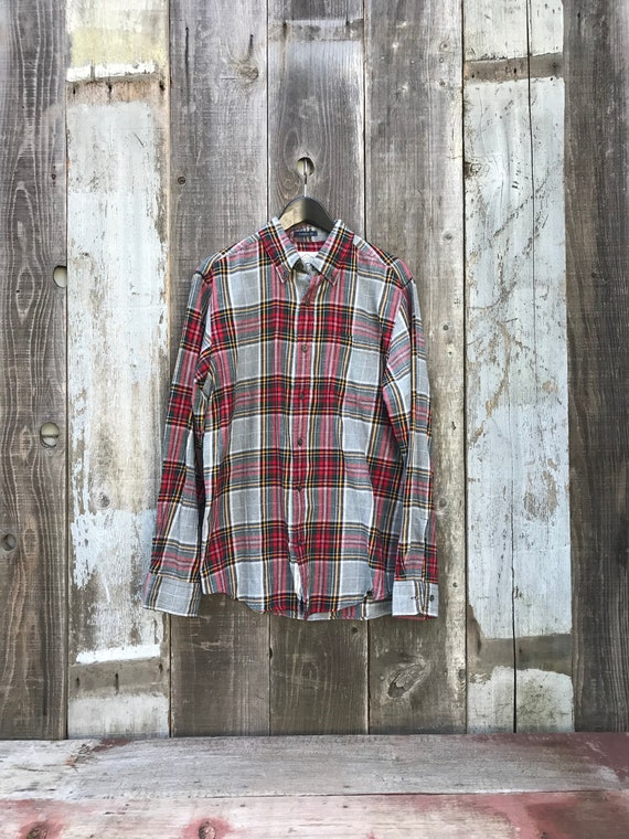 Handsome Mens Flannel Shirt | Long Sleeve Flannel