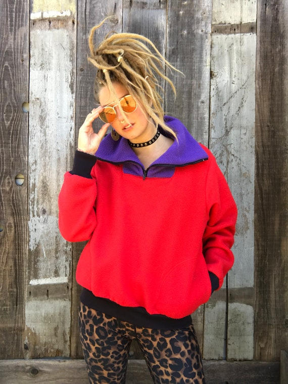 Beautiful Color Block Fleece | 90s Color Block Fl… - image 3
