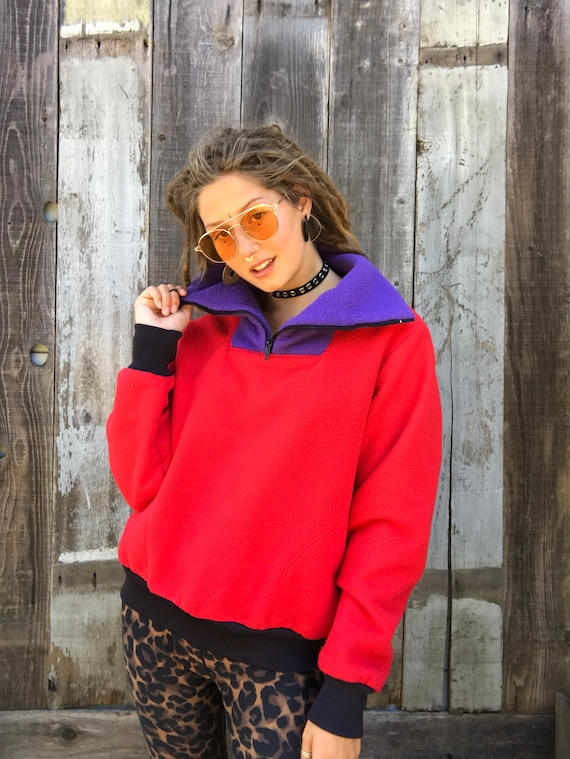 Beautiful Color Block Fleece | 90s Color Block Fl… - image 8