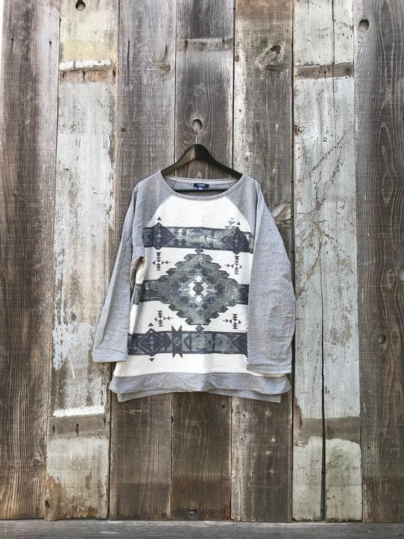 90s Aztec Sweatshirt | Unisex Aztec Sweatshirt | W