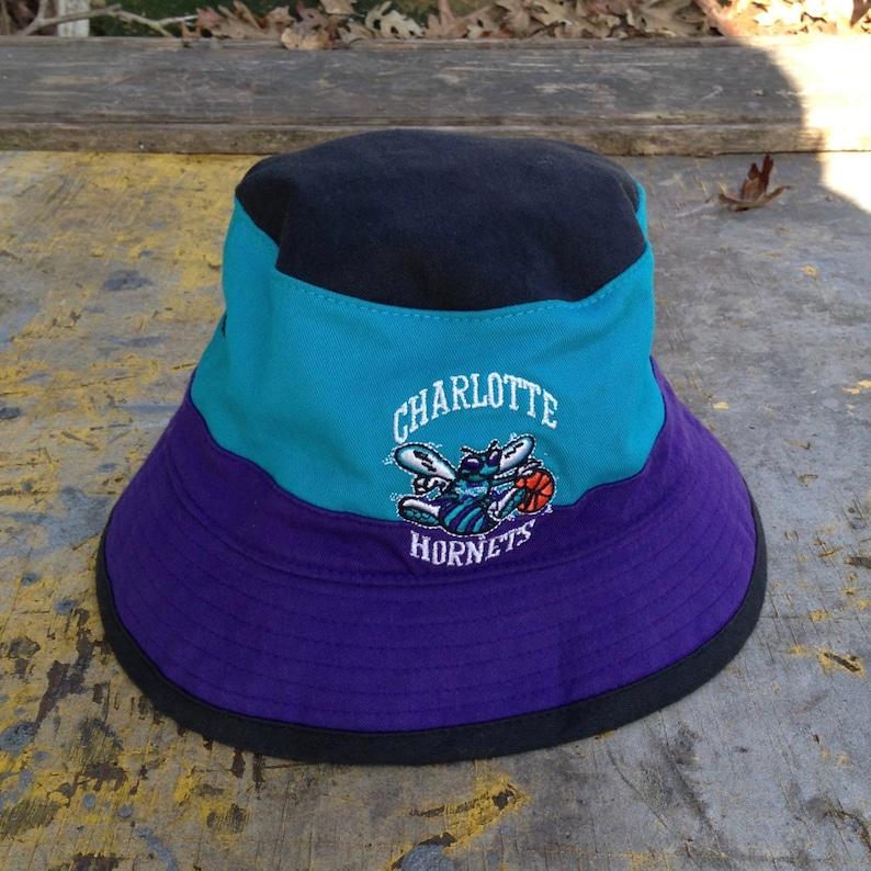 90s Charlotte Hornets Bucket Hat Vintage Charlotte Hornets  94237e8f3b0
