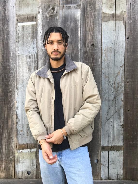90s LL Brean Fleece Lined Jacket | Mens LL Bean Ja