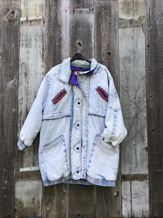 Awesome Acid Wash Jacket   Heavy Acid Wash Jacket
