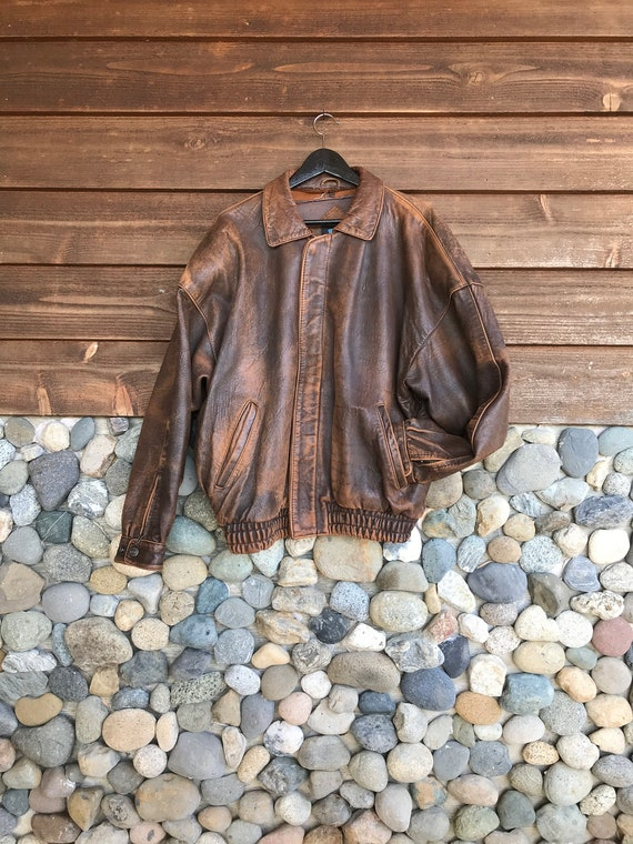Gorgeous Vintage Brown Leather Jacket   Pure Stuff