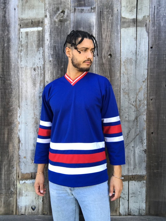 Vintage Hockey Jersey | 80s Hockey Jersey | Red Wh