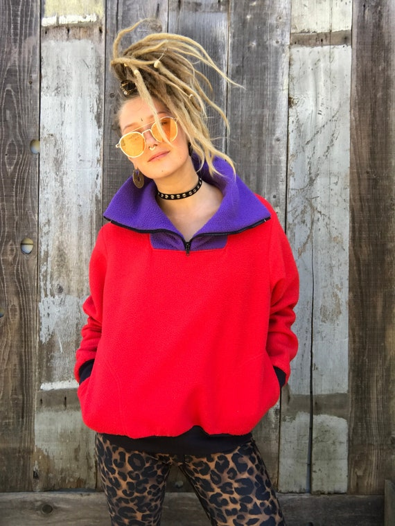 Beautiful Color Block Fleece | 90s Color Block Fl… - image 2