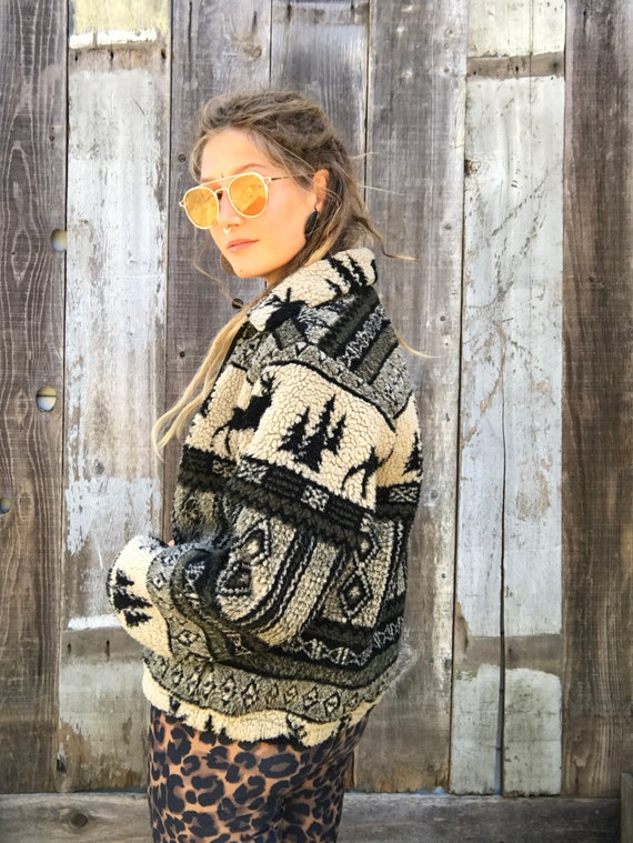 Jacket Mens Vintage Jacket Outdoors Womens Clothing Jacket Fleece Beautiful Vintage Woolrich Woolrich Fleece Womens Clothing Womens 4FSqp
