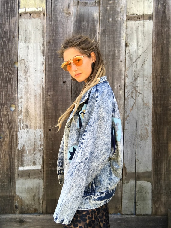 Vintage Acid Wash Denim Jacket | Awesome Retro 80… - image 2