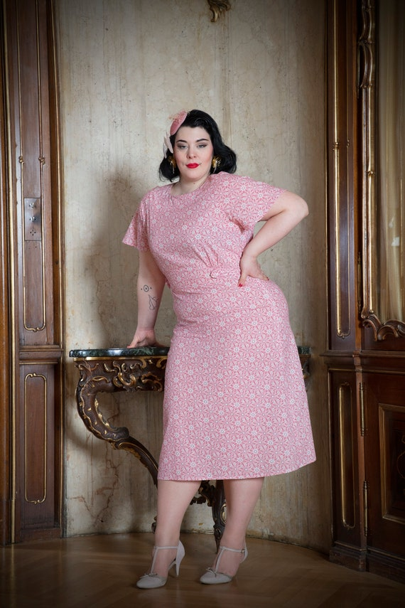 1930s Plus Size Dresses | Art Deco Plus Size Dresses Dorothy dress in the style of 30s years plus size $221.48 AT vintagedancer.com