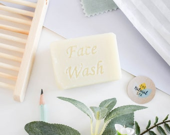 Cocoa Butter Face Wash Bar - No added fragrance 75g - vegan - plastic free, all natura,l handmade, palm free , lavender , tea tree