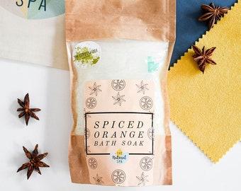Spiced Orange Bath Soak, 225g Compostable pouch Vegan Epsom Salt Soak