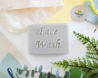 Exfoliating Face Wash Bar - Patchouli Orange Clary Sage with added super fine Pumice 75g - vegan - plastic free, all natural handmade