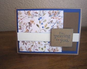 Floral Praying for You Encouragement Card