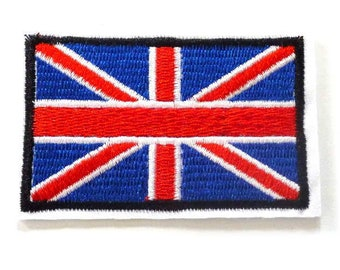 Union Flag Iron on Patch, British Flag Patch, Union Jack Iron on Patch, Flag Patches, Red White and Blue Flag