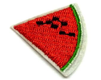 Watermelon Slice Iron on Patch, Red Watermelon Patch, Watermelon Slice Patch, Watermelon Appliqué