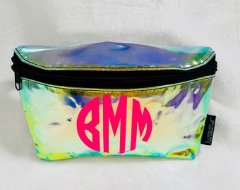 Personalized Iridescent Fanny Pack