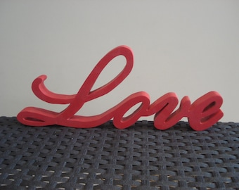 Word Love wood