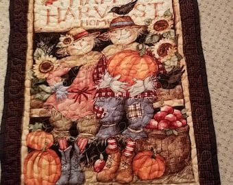 Fall Wall Hanging, Scarecrows, Seasonal, Fall, Wall Hanging, Pumpkins, Sunflowers, Crows