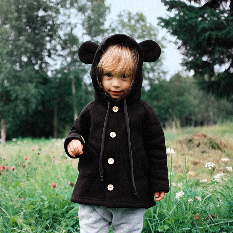 Little Mouse Coat  Hooded kids coat with tiny ears and tail  image 0