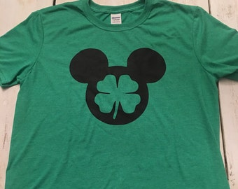 74f08850a Mickey 4 Leaf Clover Unisex T Shirt - St Patricks Day - Adult/Youth Sizes - Disney  Shirt - Mens - Womens - Youth