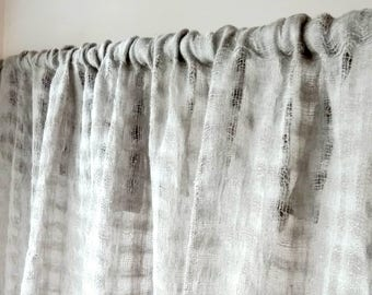 Linen curtain panel.Rustic linen curtains.Natural gray curtains.Rod pocket panel.Sheer curtain panel.Baltic linen curtains.Modern curtains
